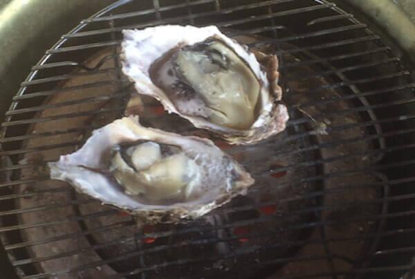 練炭で牡蠣