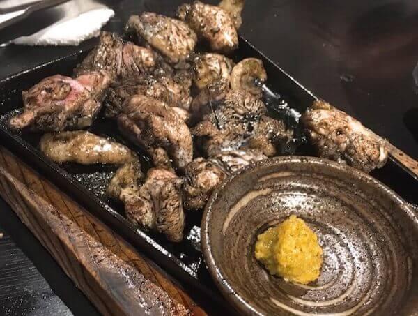 絶品!宮崎地鶏の炭火焼き