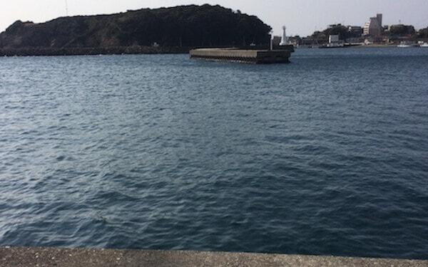 波切漁港で釣り