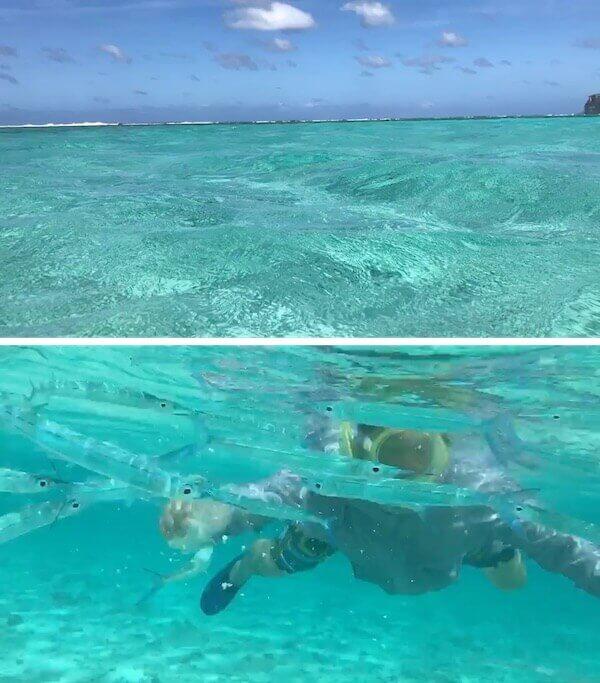 イパオビーチの海中撮影