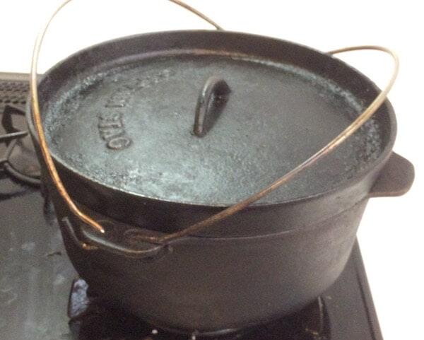 自宅でダッチオーブン