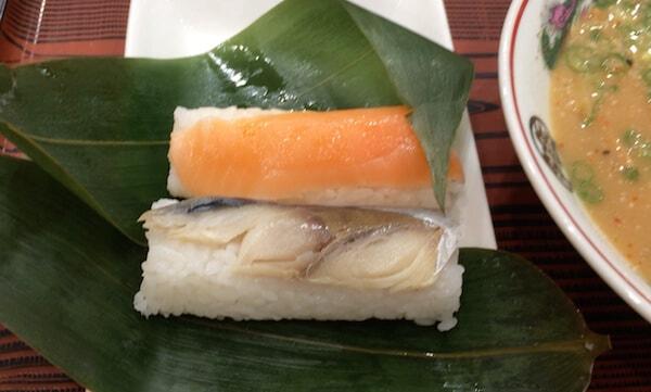 和歌山ラーメンのサバ寿司
