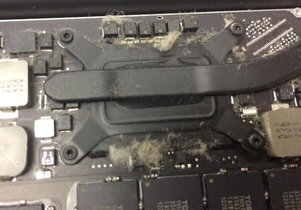 MacBookの埃