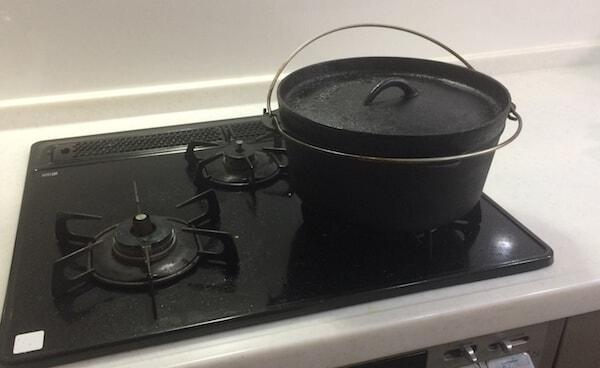 ガスコンロでダッチオーブン